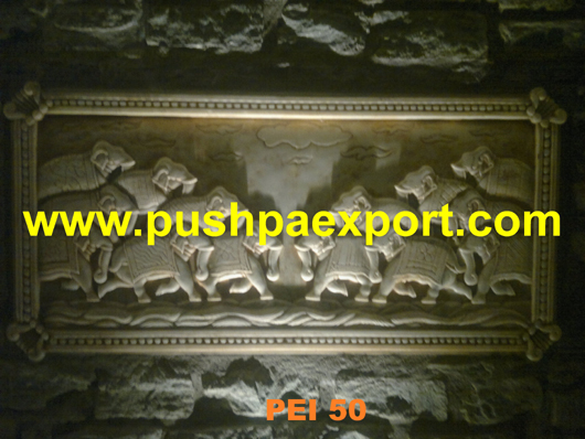 Elephant Stone Carved Panel